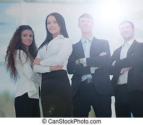 a, grupp, av, framgångsrik, affärsfolk
