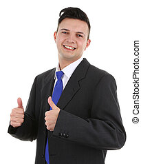 guy with a thumbs up sign