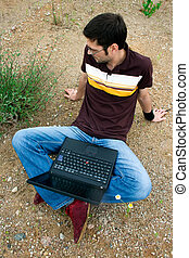 A Guy with Laptop
