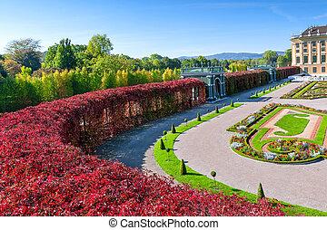 a, gyönyörű, schonbrunn palace, alatt, bécs