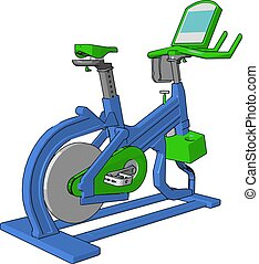 A gym cycle vector or color illustration - A gym cycle...