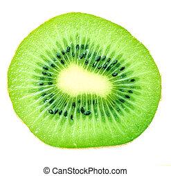 a haft of kiwi fruit isolated