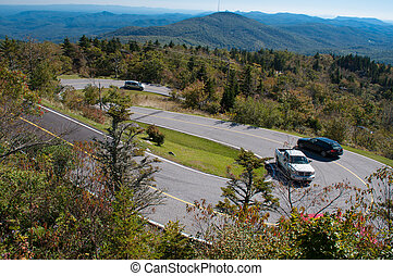 A hairpin curve in the Blue Ridge M