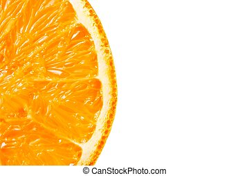 a half orange with space for text