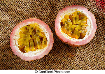 a half passionfruit