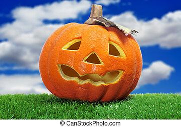 Halloween jack-o-lantern