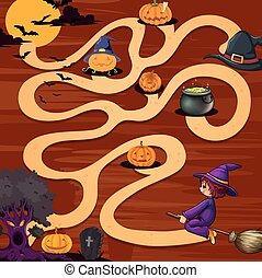A halloween maze game