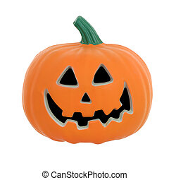 Halloween pumpkin isolated on white with clipping path