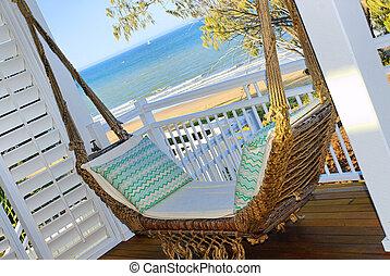 A hammock by the seaside