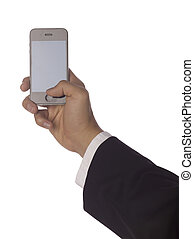 a hand holding cellphone