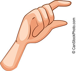 A hand - Illustration of a hand on a white background