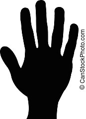 a hand silhouette