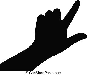 a hand silhouette vector