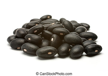 A handful of black beans - A small handful of black beans -...