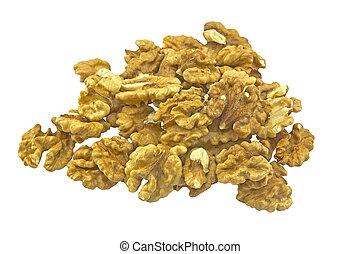 A handful of walnut
