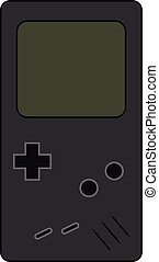 A handheld Tetris video game device vector or color illustration