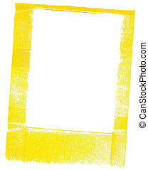 yellow frame - a handpainted yellow frame