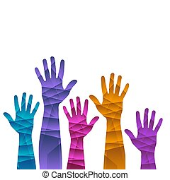 A hands up background ilustration template