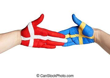 handshake between sweden and denmark
