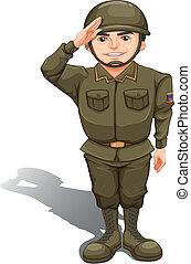 A handsome soldier