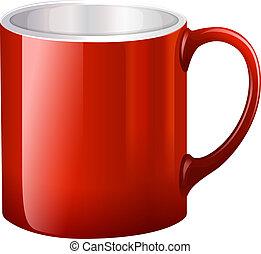 A handy red mug