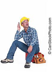 A handyman over the phone.