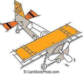 A hang glider
