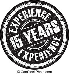 15 years experience stamp - a hanging 15 years experience ...
