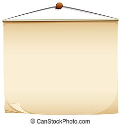 A hanging post-it pad on a white background