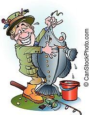 A happy angler