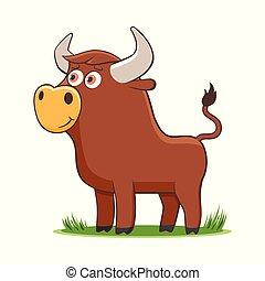 happy cartoon bul
