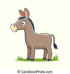 happy cartoon donkey