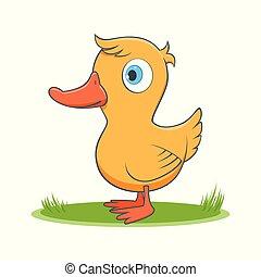 happy cartoon duck