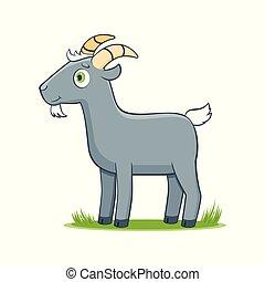 happy cartoon goat