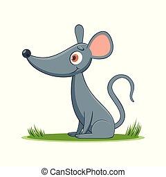 happy cartoon mouse
