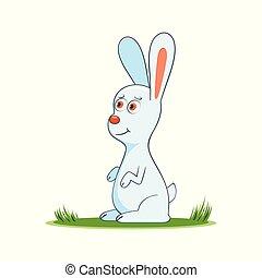 happy cartoon rabbit