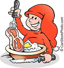 A Happy Christmas Elf Cooking