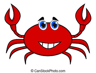 a happy crab