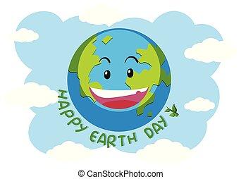 A happy earth logo