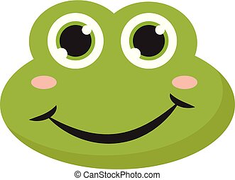 A happy frog , vector or color illustration