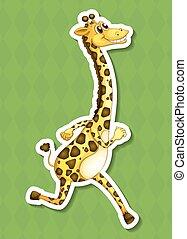 A happy giraffe