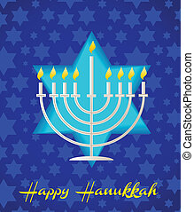 a happy hanukah card tempalte - A Happy Hanukkah card ...