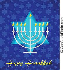 a happy hanukah card tempalte - A Happy Hanukkah card...