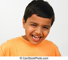 a happy indian kid