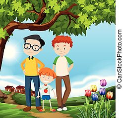 A Happy LGBT Adoption Family illustration