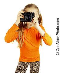 a happy little girl photographs