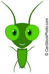a happy little grasshopper