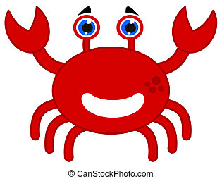 a happy red crab