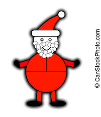 Santa Claus - A happy Santa Claus for Christmas concepts.