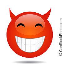 A Happy Smiley Face Button